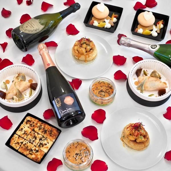 Repas gastronomique pour la Saint-Valentin